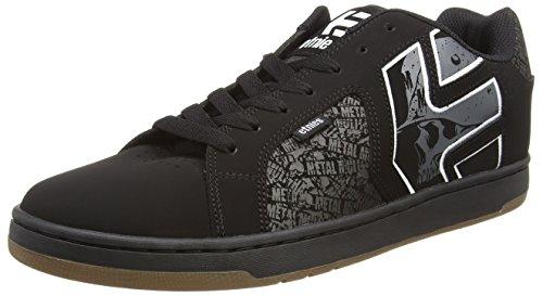 Etnies Metal Mulisha Fader 2, Scarpe da Skateboard Uomo, Nero (581-Black/Grey/White 581), 37.5 EU