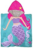 Jay Franco Trend Collector Mermaid Kids Bath/Pool/Beach Hooded Poncho Towel - Super Soft & Absorbent Cotton Towel, Measures 22 Inch x 22 Inch