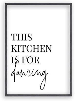 Blim Blum This Kitchen Is For Dancing Print Amazon Co Uk Books