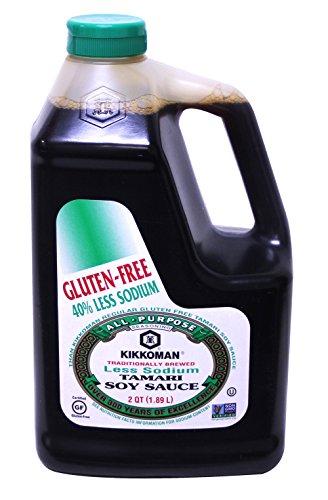 Kikkoman Less Sodium Gluten Free Tamari Soy Sauce 5 Gallon Container