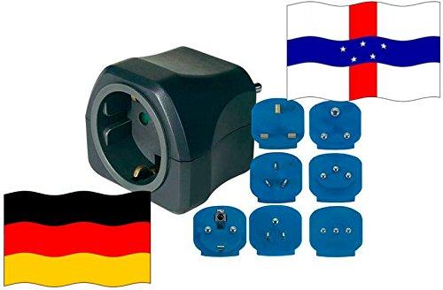 Niederländische Antillen + WELT Adapter für Geräte aus Deutschland