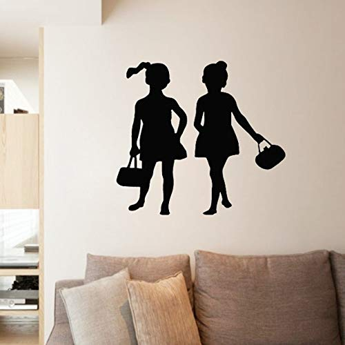 Uiewle Fashion Girl Wall Sticker Home Decoration Vinyl Wall Decal Poster Decoration 68x68cm