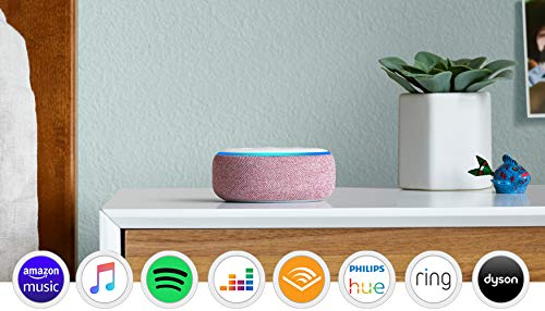 Echo Dot (3rd Gen), Plum Fabric + Tapo P100 Smart Plug, Works with Alexa