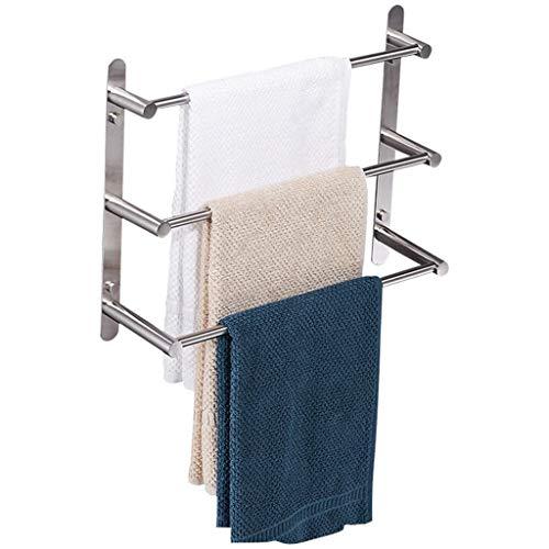 Toallero de pared para baño 304 de acero inoxidable cepillado, barra de 40 cm, toallero para cuarto de baño o cocina