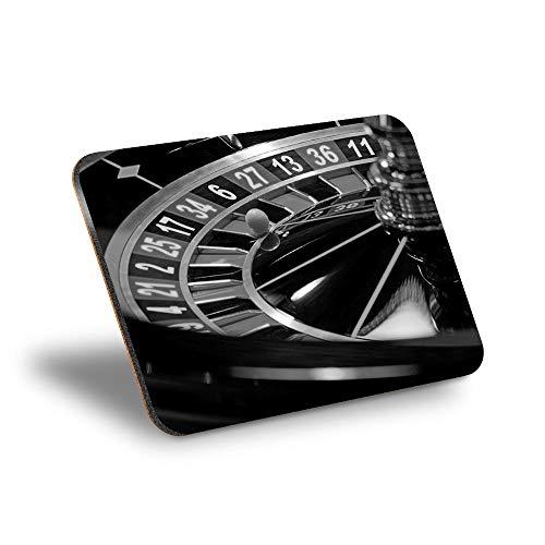 Destination Vinyl ltd Mantel individual de corcho 290 x 215 – BW – Rueda de ruleta Casino lugar de trabajo/mantel de mesa/limpiable/resistente al agua #39421