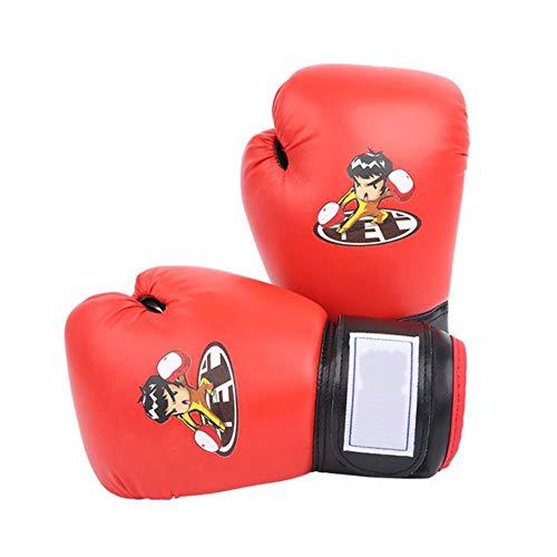 SIWUXIE Elite Sports Kinder Boxhandschuhe, Ausbildung Muay Thai Boxkampf Jugend Handschuhe, für 3-13 Jahre alte Kinder, Baby, Kind,Rot
