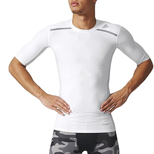 adidas Herren T-shirt Techfit Chill, White, M