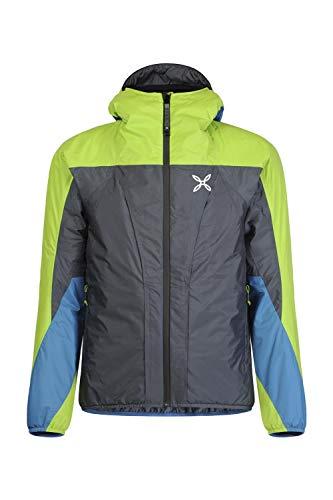 MONTURA Trident 2 Jacket Piombo/Verde Acido - Giacca Outdoor - M