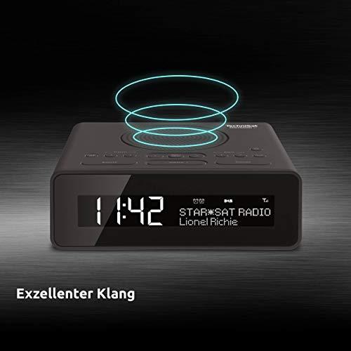 TechniSat Digitradio 51 DAB+ Radiowecker (DAB, UKW, Uhrenradio, Wecker mit zwei einstellbaren Weckzeiten, Snooze-Funktion, Sleeptimer, dimmbares Display, Kopfhöreranschluss) schwarz