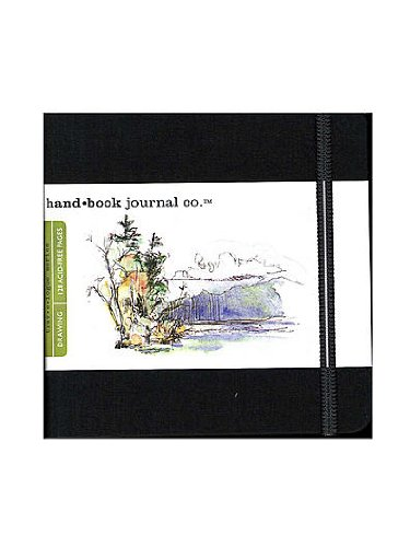 Hand Book Journal Co. Travelogue Drawing Journals 5 1/2 in. x 5 1/2 in. square ivory black [PACK OF 2 ]
