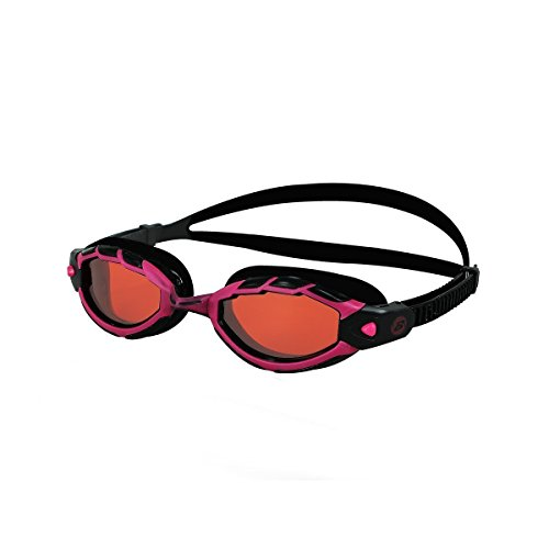 Barracuda Swim Goggle Triton - Wire Frame Technology, Curved Lenses Anti-Fog UV Protection, Easy-Adjustment, Comfortable Quick Fit No Leaking, Triathlon for Adults Men Women #33925 (Red)