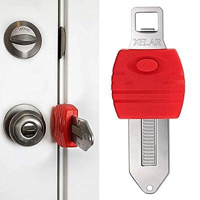 Portable Door Locker Door Lock from Inside Door Travel Lock, Lockdown Door Security for Home, Apartment, Living Motel - Additional Protection, AirBNB, Hotel, Home Door Locks
