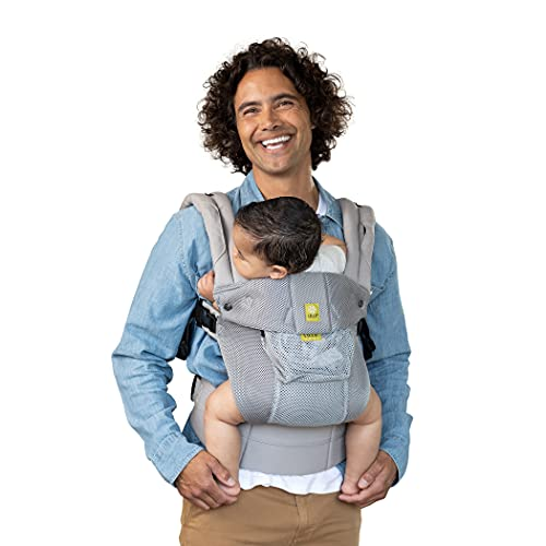 LÍLLÉbaby Complete Airflow All-Positions Baby Carrier, Newborn to Toddler, Lumbar Support, 7-45lbs, Silver