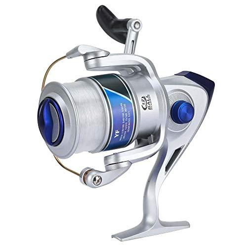 Carretel de pesca, molinete giratório de plástico 12BB para pesca de água doce e salgada série YF (prata 1000)