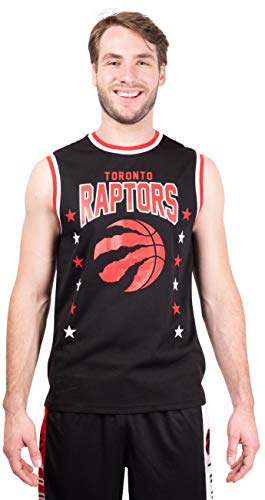 Ultra Game NBA Toronto Raptors Mens Jersey Sleeveless Muscle T-Shirt, Black, Medium