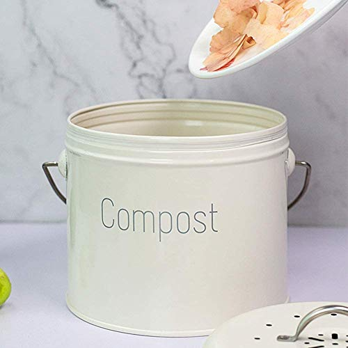 Great Price! FMXYMC Mini Recycle Trash Can with Lid, Indoor Home Waste Compost Bin, Kitchen Compost ...