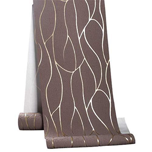 Tapete 3D stereoskopischer geprägter Streifen braun Vliestapete esszimmer flur schlafzimmer Wohnzimmer Dekoration Wandtuch