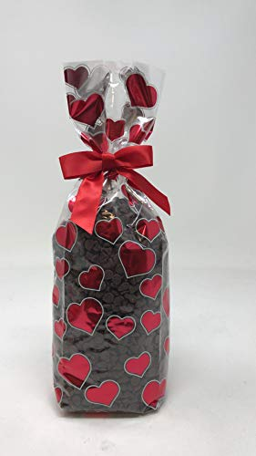 Valentines Day Gift Hershey's Semi-Sweet Mini Chocolate Baking Chips 1 Pound Bag - With Gifted Bow