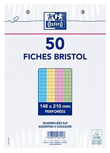 Oxford 100102295fichas A5bajo película perforadas cuadros pequeños 5X 550fichas, varios colores