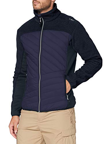 C.P.M. Veste matelassée Knit Tech Veste Homme Black Blue FR: M (Taille Fabricant: 48)