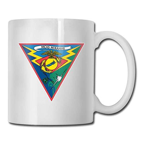 Marine Corps Air Station Miramar personalizada taza de café blanco taza de té