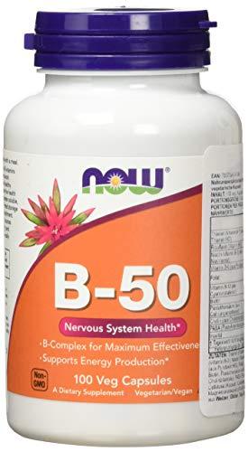 Now Foods, Vitamin B-50 Komplex 100 Kapseln