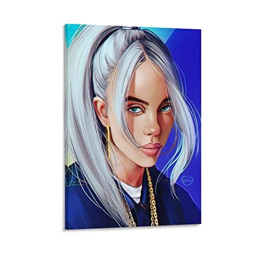 Billie Eilish - Póster de anime para pared (40 x 60 cm)