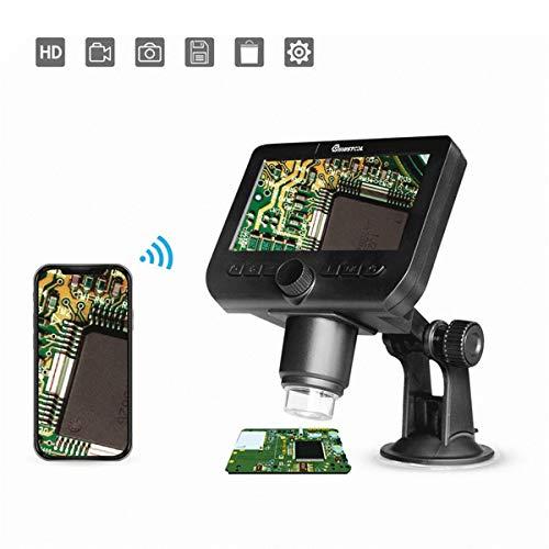 LWQ Wiederaufladbares 4,3-Zoll-Digitalmikroskop 1000X USB-Video-WiFi-Mikroskopkamera 1080P HD OLED Endoscope Magnify Camera