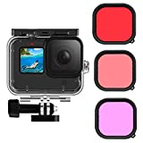 FINEST+ Waterproof Housing Case Filter Kit for GoPro Hero 9 Black Waterproof Case Diving Protective Housing Case+3Pack Dive Filters+Anti-Fog Insert+Bracket Accessories for Go Pro Hero9 Black