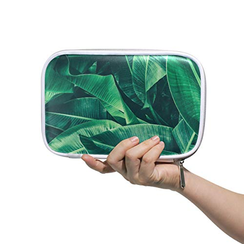 Beauty Box Bag Tropical Banana Leaf Texture Large Palm Foliage N Toiletry Bag For Men Small Pencil Box Case Multifunctional Cosmetic Bags For Women For Men Women