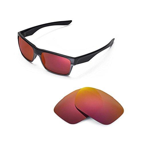 Walleva Ersatzgläser für Oakley TwoFace Sonnenbrille - 6 Optionen (Feuerrot)