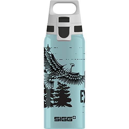 SIGG WMB One Brave Eagle Kinder Trinkflasche (0.6 L), schadstofffreie und auslaufsichere Kinderflasche, federleichte Wasserflasche aus Aluminium