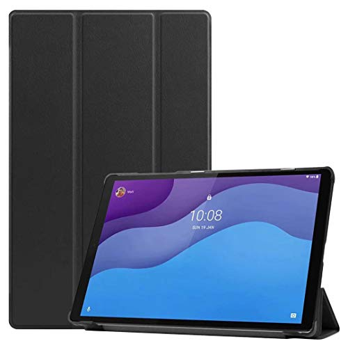 DLveer Funda para Lenovo Tab M10 HD (2nd generación),Ultra Slim PU Plegable Smart Cover,con Función Auto Sleep/Wake,para Lenovo Tab M10 HD 10,1 2020 (Modelo: TB-X306X / TB-X306F), Negro