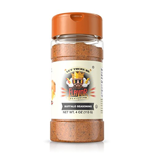 #1 Best-Selling 5oz. Flavor God Seasonings - Gluten Free, Low Sodium, Paleo, Vegan, No MSG (Single Seasoning) (Buffalo Seasoning, 1 Bottle)