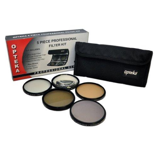 Kit Opteka di 5 filtri 58mm ad alta definizione professionali con UV, CPL, FL, ND4 e obiettivo macro 10x per Canon EOS Obiettivo EF-S 18-55mm (EOS 100D, 300D, 350D, 400D, 450D, 500D, 550D, 600D, 650D, 700D 1000D, 1100D & 1200D Reflex Digitali Fotocamera)