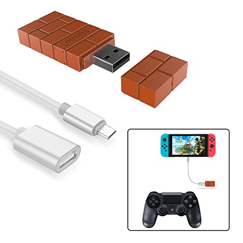8Bitdo Wireless Controller Adapter for Nintendo Switch,Windows,Mac &...