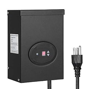 DEWENWILS 300W Outdoor Low Voltage Transformer with Timer and Photocell Sensor 120V AC to 12V/14V AC Weatherproof for Halogen & LED Landscape Lighting Spotlight Pathway Light ETL Listed