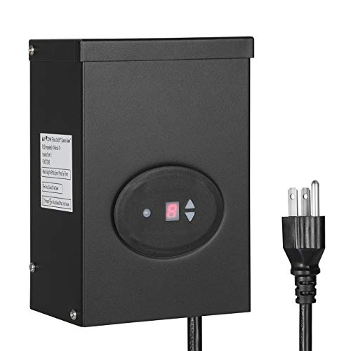 DEWENWILS 300W Outdoor Low Voltage Transformer with Timer and...