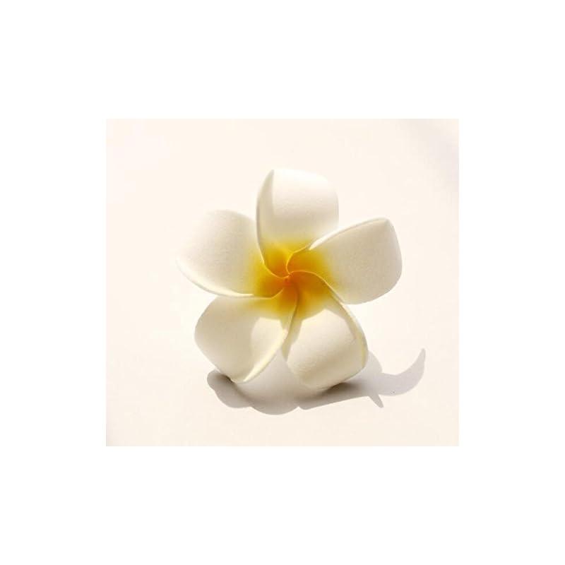 "silk flower arrangements sallyfashion foam artificial plumeria rubra flower heads frangipani wedding decoration flowers plumeria flower head/hawaiian plumeria foam flower (2.7"",50 pcs)"