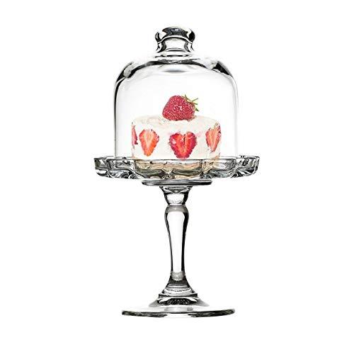 SWEET HOME Mini Alzata Pasticceria in Vetro per Dolci e Frutta in Vetro con Campana in Vetro Trasparente cod.AC00420LU cm 19,7h diam.11 by Varotto & Co.