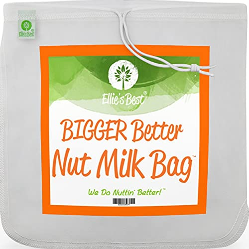Pro Quality Nut Milk Bag - XL12'X12' Bags - Commercial Grade Reusable All Purpose Food Strainer...