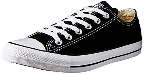Converse - Zapatillas de cuero unisex, Negro, 42
