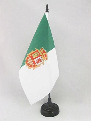 AZ FLAG Bandera de Mesa de FUERTEVENTURA 21x14cm - BANDERINA de DESPACHO Islas CANARIAS - Las Palmas 14 x 21 cm