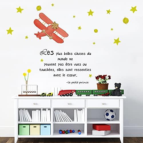 decalmile Pegatinas de Pared Frases Infantiles Vinilos Decorativos Estrellas Letras Adhesivos Pared Habitación Infantiles Bebés Guardería