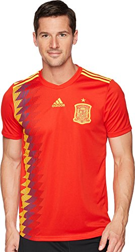adidas Mens Spain Official Jersey, Red/Bold Gold, X-Large