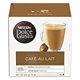 nescafe dolce gusto cup - Nescafe Dolce Gusto Coffee Pods, Cafe Au Lait, 16 capsules, Pack of 3