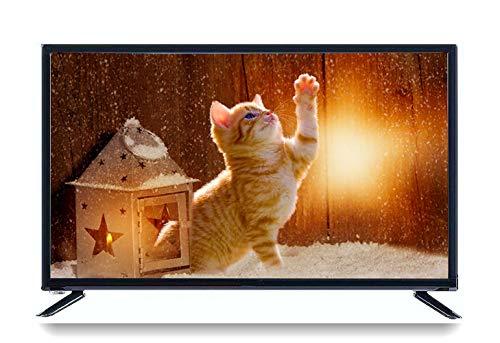 Bewinner 32-Zoll-Smart-TV, HDR-LCD-Fernseher mit drahtlosem WLAN, Satellitenfernsehen (45 W - 1366 * 768), 4K-HD-Display, HDMI, RF/AV-Antenne, CD/DVD(EU)