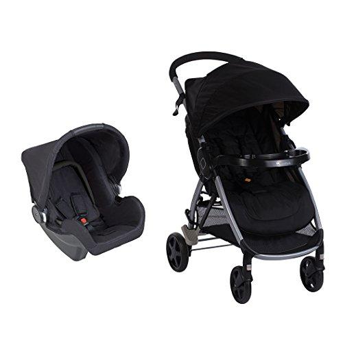 Safety 1st Step & Go TS Kinderwagen inklusive Babyschale, einfacher Aufbau und Faltmechanismus, geeignet ab Geburt bis ca. 15 kg, schwarz