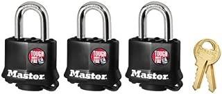 Master Lock 311TRI Keyed Alike Laminated Steel Padlock , 3-Pack