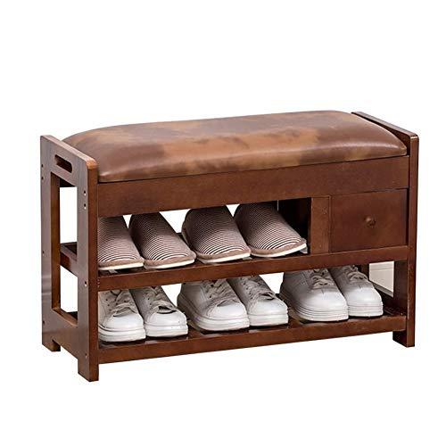 LMCLJJ Zapatero sólido Banco de Madera del Zapato Moderno Minimalista Zapato Gabinete de Habitaciones Umbral Living Home Banco de Zapatos Zapatero Simple for Almacenamiento